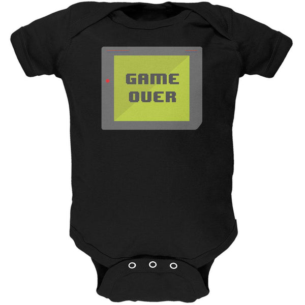 Halloween Old School Gamer Game Over Soft Baby One Piece