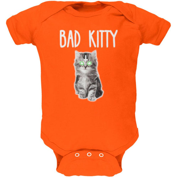 Halloween Bad Kitty Cat Ghost Soft Baby One Piece