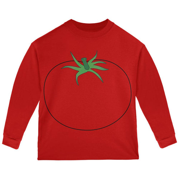Halloween Fruit Vegetable Tomato Costume Toddler Long Sleeve T Shirt
