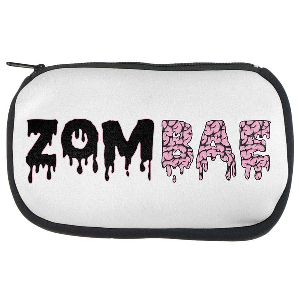 Halloween Zombie Zombae Brains Zip Makeup Bag