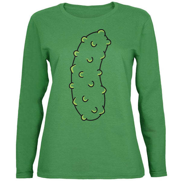Halloween Vegetable Pickle Costume Womens Long Sleeve T Shirt