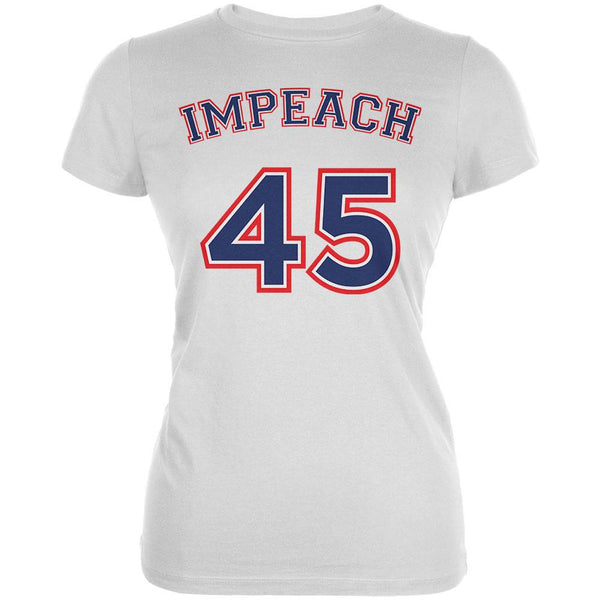 Impeach 45 45th President Donald Trump Juniors Soft T Shirt