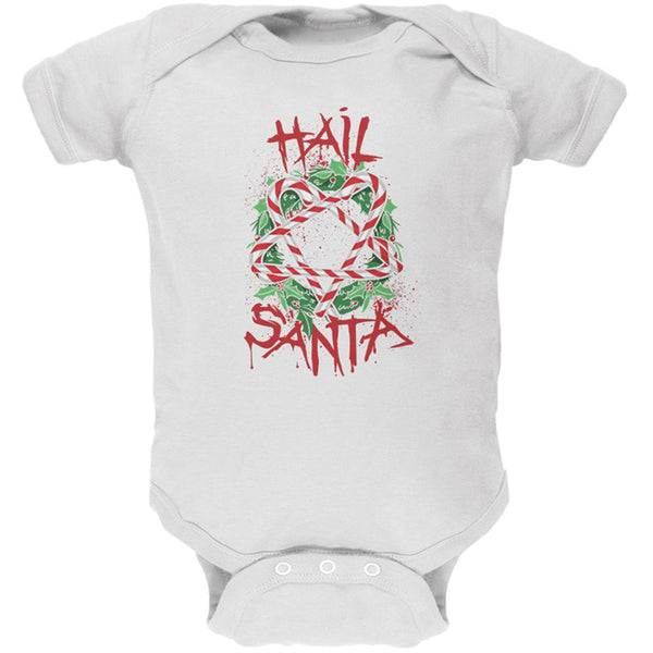 Christmas Hail Santa Pentagram Wreath Soft Baby One Piece