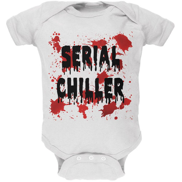 Halloween Serial Chiller Blood Splatter Soft Baby One Piece