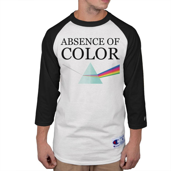 Halloween Absence of Color Costume Mens Raglan T Shirt