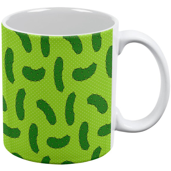 Vegetable Pickle Pickles Repeat Pattern All Over Coffee Mug