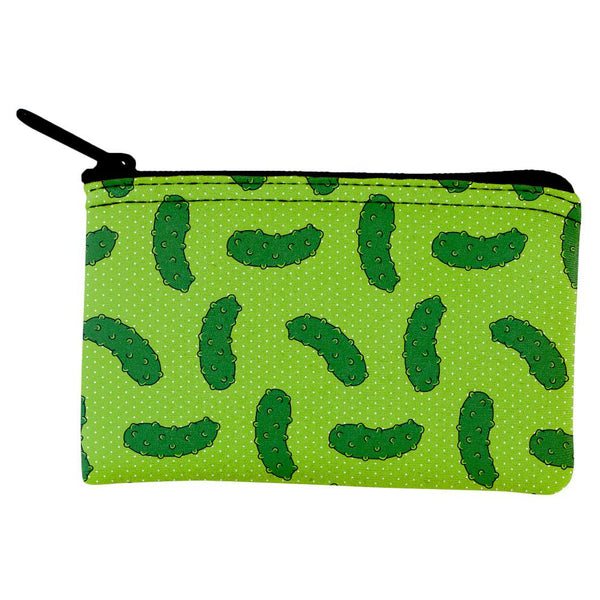 Vegetable Pickle Pickles Repeat Pattern Coin Purse
