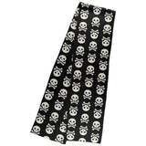 Halloween Skull and Crossbones Warm Fleece Scarf