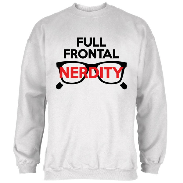 Halloween Nerd Costume Full Frontal Nudity Nerdity Pun Mens Sweatshirt