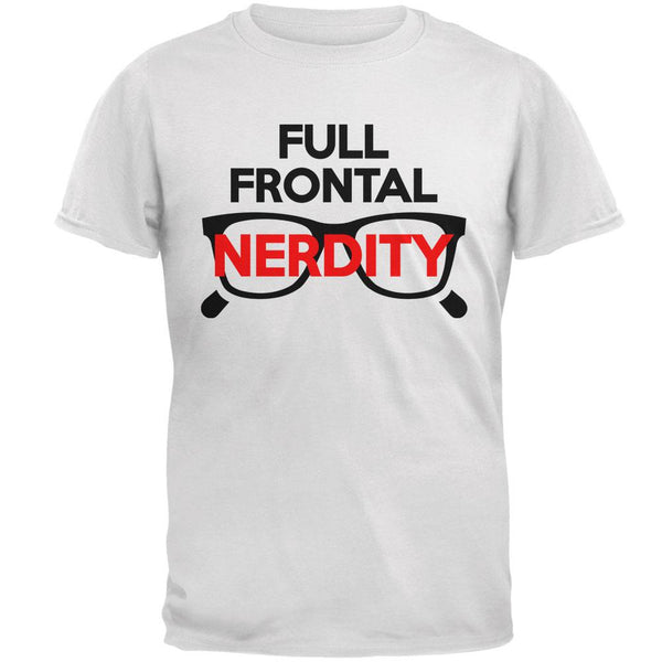Halloween Nerd Costume Full Frontal Nudity Nerdity Pun Mens T Shirt