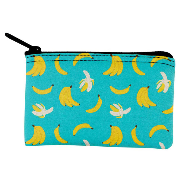 Fruit Peeled Banana Repeat Pattern Coin Purse