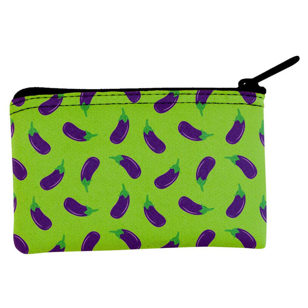 Vegetable Eggplant Eggplants Repeat Pattern Coin Purse