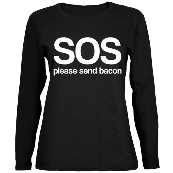 SOS Please Send Bacon Ladies' Relaxed Jersey Long-Sleeve Tee