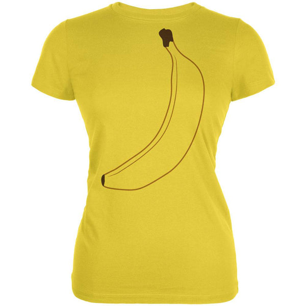 Halloween Fruit Banana Costume Juniors Soft T Shirt