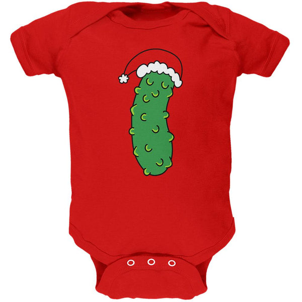 Christmas Pickle Soft Baby One Piece