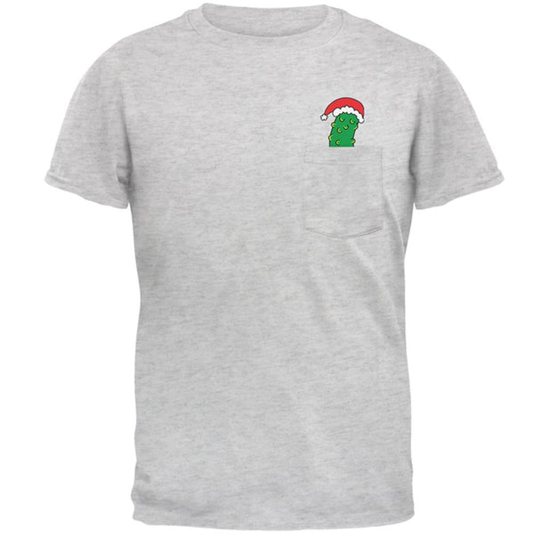 Christmas Pocket Pickle German Tradition Mens Pocket T Shirt
