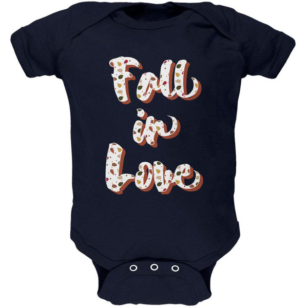 Autumn Fall in Love Leaves Pattern Soft Baby One Piece