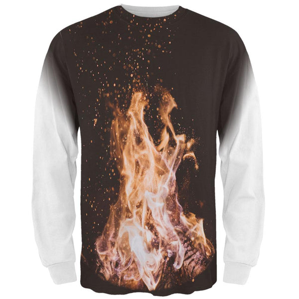 Autumn Bonfire Love All Over Mens Long Sleeve T Shirt