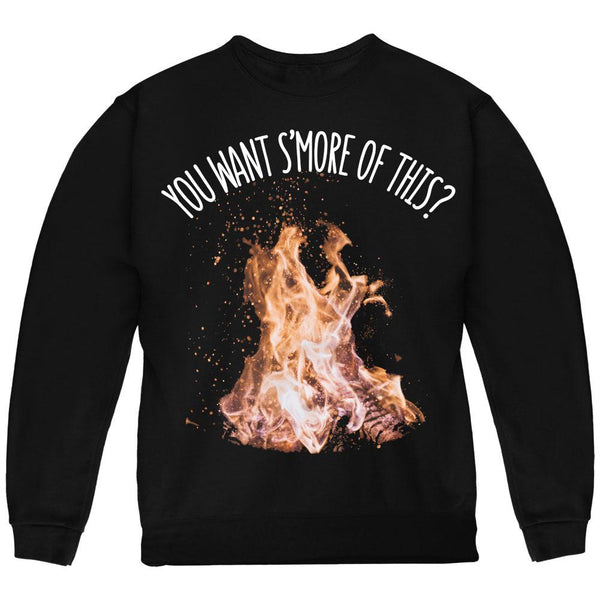 Autumn You Want S'more of This Bonfire Pun Youth Sweatshirt