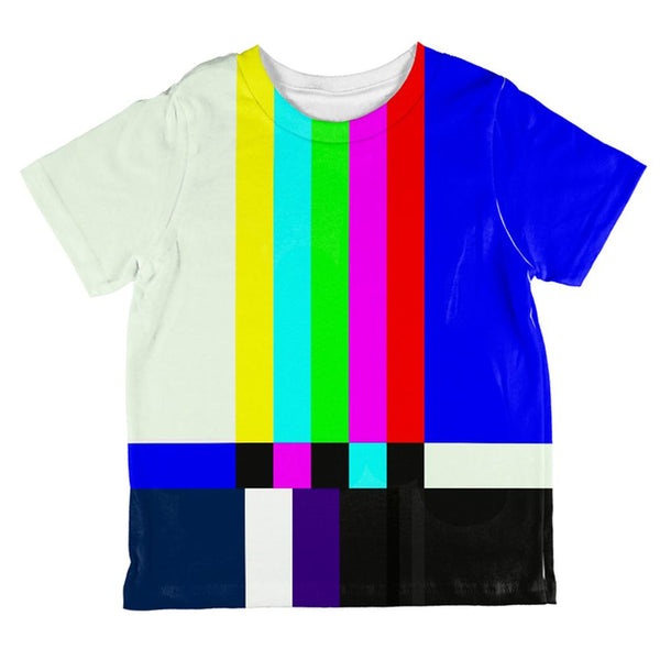 Halloween SMPTE Color Bars Late Night TV Costume All Over Toddler T Shirt