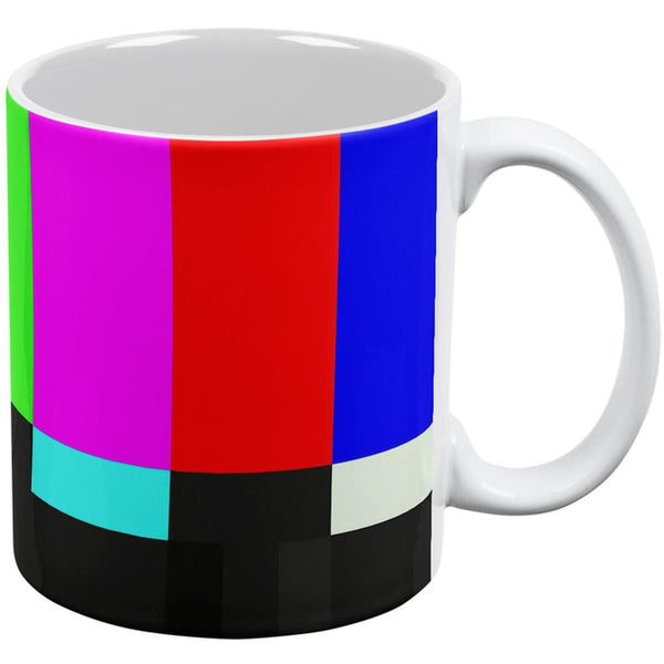 SMPTE Color Bars Late Night TV All Over Coffee Mug
