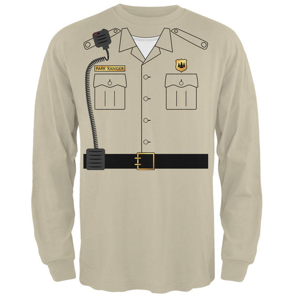 Halloween Forest Park Ranger Costume Mens Long Sleeve T Shirt