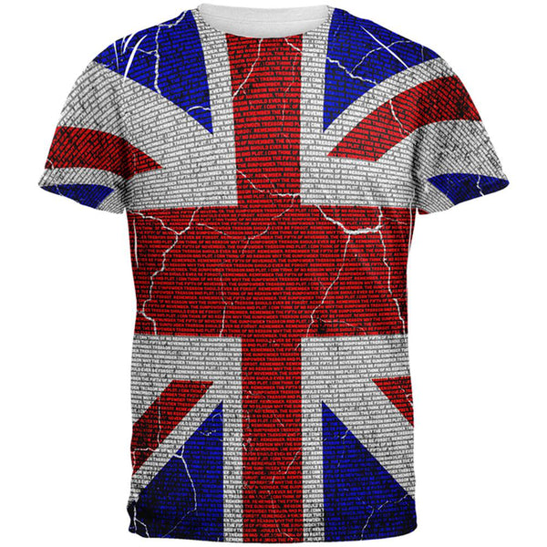 5th of November Rhyme Union Jack British Flag All Over Mens T Shirt