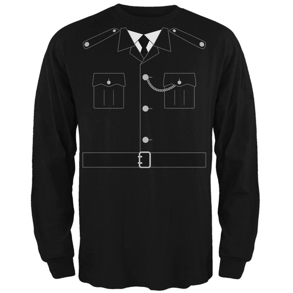 Halloween British Bobby Copper Police Costume Mens Long Sleeve T Shirt