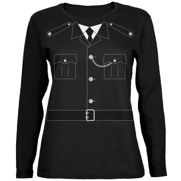 Halloween British Bobby Copper Police Costume Ladies' Relaxed Jersey Long-Sleeve Tee