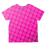 D20 Gamer Critical Hit and Fumble Pink Pattern All Over Toddler T Shirt