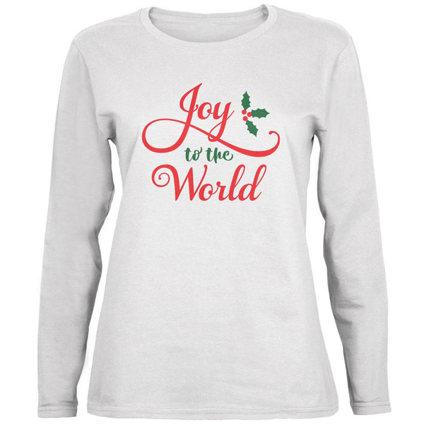 Christmas Joy to the World Script Ladies' Relaxed Jersey Long-Sleeve Tee