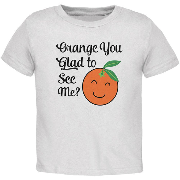 Fruit Orange You Glad to See Me Aren't Baby Crewneck T Shirt