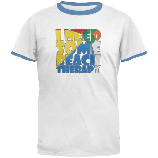 Beach Therapy Mens Ringer T Shirt