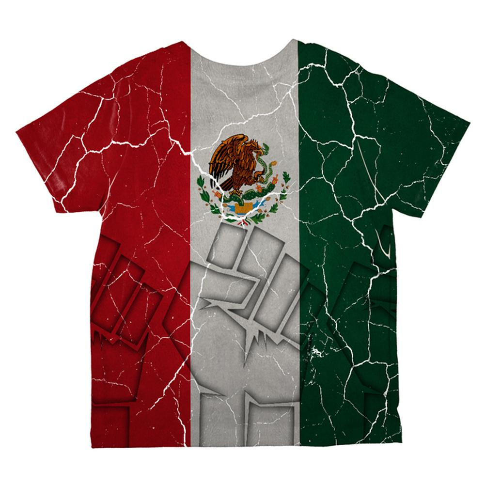 Cinco De Mayo Mexican Flag All Over Toddler T Shirt