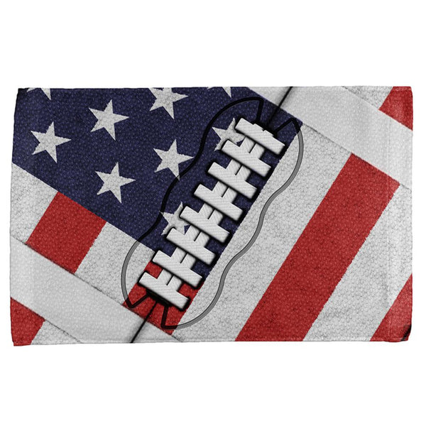 4th of July American Flag Patriot Football All Over Hand Towel