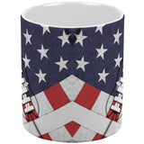 4th of July American Flag Patriot Football All Over Coffee Mug