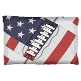 4th of July American Flag Patriot Football Pillow Case