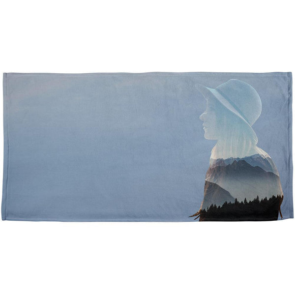 Mountains Adventure Girl All Over Beach Towel
