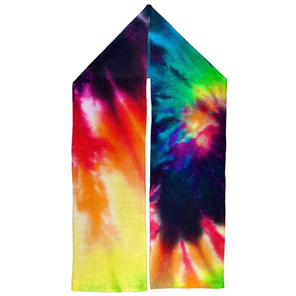 Tie Dye Warm Fleece Scarf