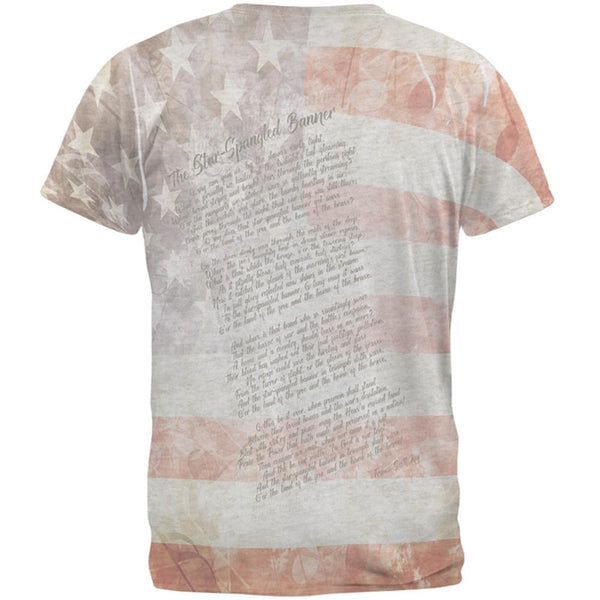 Star Spangled Banner Lyrical T-Shirt - back view
