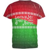Christmas Santa is My Spirit Animal Sweater All Over Mens T Shirt