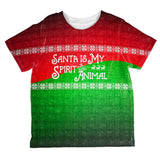 Christmas Santa is My Spirit Animal Sweater All Over Toddler T Shirt