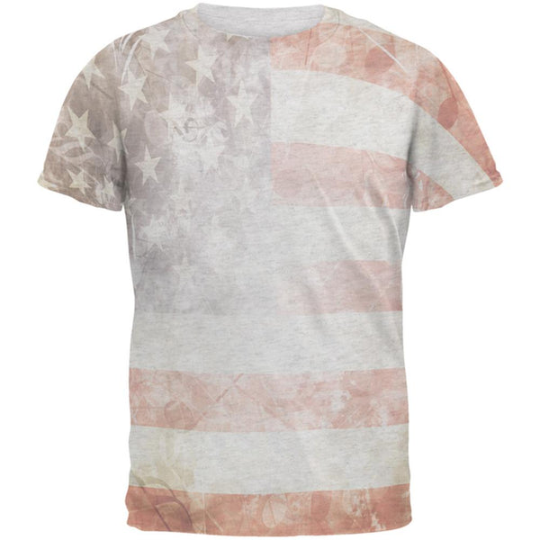 American Flag with Musical Notes Men's Soft T-Shirt