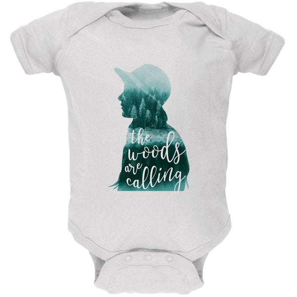 The Woods are Calling Pine Forest Girl Soft Baby One Piece