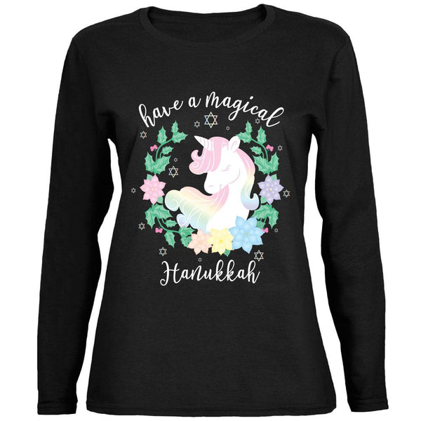 Have a Magical Hanukkah Unicorn Ladies' Relaxed Jersey Long-Sleeve Tee