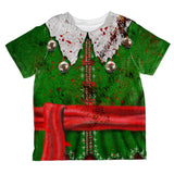 Christmas Zombie Attack Survivor Elf Costume All Over Toddler T Shirt