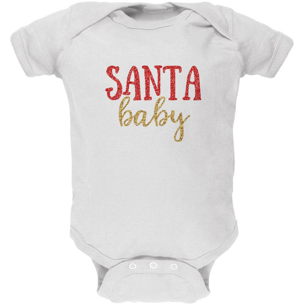 Christmas Santa Baby Soft Baby One Piece