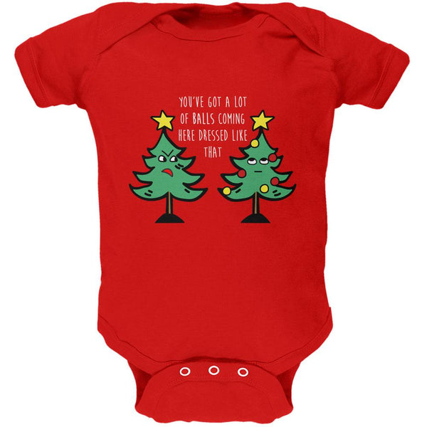 Christmas Tree You've Got a Lot of Balls Funny Soft Baby One Piece