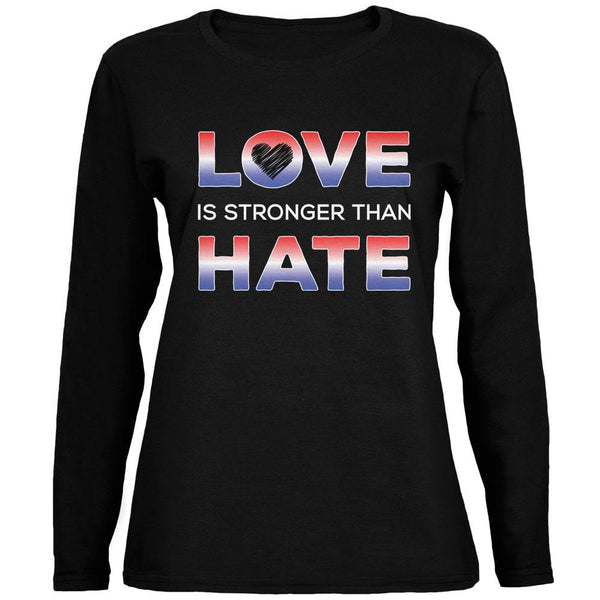Activist Love is Stronger Than Hate America Ladies' Relaxed Jersey Long-Sleeve Tee