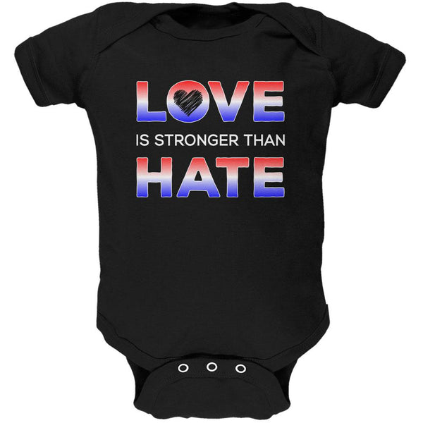 Activist Love is Stronger Than Hate America Soft Baby One Piece